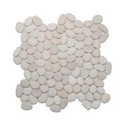 Mini Pebble Tile Mosaic - White Timor Mini Pebble Tile made by Zen Paradise, Inc., interlocking pattern to create a seamless natural environment.