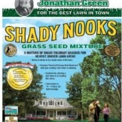 JONATHAN GREEN Shady Nooks Grass Seed Mixture Covers 750 Sq. Ft. 1lb. - Shady Nooks Mixture is especially made to survive in damp soil or in dry poor soils in areas of heavy shade. Endophyte enhanced for improved insect resistance. Contains Poa Trivialis a shade tolerant grass that grows well in moist shady areas. Contains Hard Fescue the turfgrass requiring the least fertilizer.