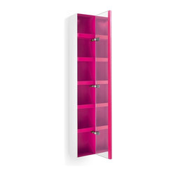 WS Bath Collections - Ciacole 8054.16 Cabinet Mirrored Door - Ciacole 8054.16 Cabinet with Mirrored Door in Pink