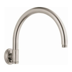 """GROHE - Grohe Rainshower Retro Shower Arm - Infinity Brushed Nickel - Available in multiple finishes. Features & SpecsTubular curved armInlet: 1/2"""" male threadsShown with 28 375 Retro RainshowerCan be used with any GROHE shower head EXCEPT Rainshower Jumbo. View Spec Sheet"""