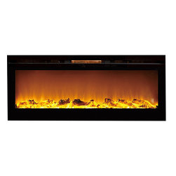 """Moda Flame - Moda Flame 60"""" Cynergy XL Log Built-In Wall Mounted Electric Fireplace - If you want to add a dynamic and vivacious vibe to a room, the built-in Destiny Crystal Cynergy fireplace will do that and more. Its perfect length and proportion, as well as sleek design makes it the showpiece of any room. The realistic flame pattern coupled with its innovative style crystals, makes the Cynergy fireplace the most revolutionized and cutting-edge on the market."""