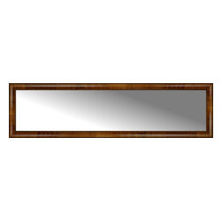 """Posters 2 Prints, LLC - 67"""" x 18"""" Belmont Light Brown Custom Framed Mirror - 67"""" x 18"""" Custom Framed Mirror made by Posters 2 Prints. Standard glass with unrivaled selection of crafted mirror frames.  Protected with category II safety backing to keep glass fragments together should the mirror be accidentally broken.  Safe arrival guaranteed.  Made in the United States of America"""