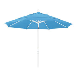 California Umbrella - 11 Foot Olefin Aluminum Crank Lift Collar Tilt Patio Umbrella, White Pole - California Umbrella, Inc. has been producing high quality patio umbrellas and frames for over 50-years. The California Umbrella trademark is immediately recognized for its standard in engineering and innovation among all brands in the United States. As a leader in the industry, they strive to provide you with products and service that will satisfy even the most demanding consumers.