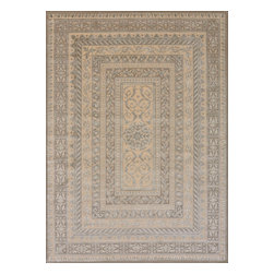 """Nourison - Nourison Ma02 Platine 203 Multicolor Area Rug, 7'6""""x10'6"""" - Cool and elegant in the softest shades of mocha, ecru and platinum, this lovely Michael Amini rug gleams with pearlescent beauty. A pattern of intricate floral motifs interspersed with delicate geometric forms is contained within a series of borders, lending an air of aristocratic restraint to the flowing arabesques of this timeless design. What's included: Rug (1)."""