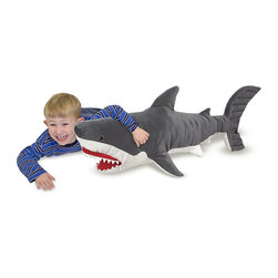 Melissa & Doug Likelike and Lovable Plush Shark - Who says stuffed animals are just for kids? I want this on my bed.