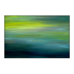 Large Original Seascape Abstract Canvas Contemporary/Modern Painting by Gina Per - Abstract Seascape Landscape Acrylic Painting on Canvas - by Gina Perillo