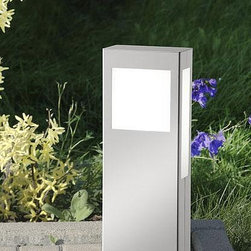 CMD - Aqua Paulo outdoor path light (short) - The Aqua Paulo outdoor light (short) is designed and produced by CMD. This Premium fixture is perfect or paths patios or parking spaces. It is Energy efficient and features the highest grade of V2A stainless steel. It features a satined glass. This fixture is suitable for areas which are exposed to salty air near the ocean. Quality made in Germany with a 10 years manufacturers warranty.