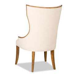 """Hooker Furniture - Hooker Furniture Armless Dining Chair - Add sophistication to your dining room with the Victoria Dining chairs. Hardwoods Solids and Fabric; Fabric Content: 84% Polyester, 11% Acrylic, 5% Linen. Dimensions: 25.75""""W x 27.5""""D x 44.5""""H."""
