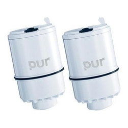 Kaz Inc. - Pur Faucet Filter 2 Pack - PUR 2 Stage Faucet Water Filter Replacement (2-pack) with Tray. Provides up to 100 gallons (two to three months) of crystal clean water.  Reduces lead and removes 99.9% of microbiological cysts (cryptosporidium and giardia), while leaving beneficial fluoride in the water.