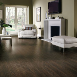 Armstrong Rustics Premium Laminate Flooring - Homestead Plank - Prairie Brown - If comfortable and relaxed define your style, the Rustics Premium laminate collection is perfect for you. These floors offer scraped textures and farmhouse-style wide boards that are in step with current interior trends.