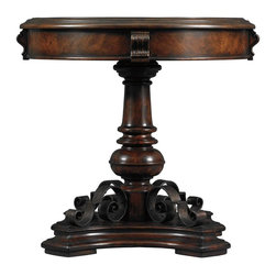 Stanley Furniture - Costa Del Sol-Smiling Luna Evening Table - Like the waters that play in Italy's famed Fountain of the Four Rivers, the flowing iron on the base of our Smiling Luna Evening Table seems to move out in all directions as if controlled by the tides.