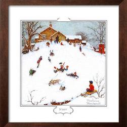 Artcom - Deadman's Hill by Norman Rockwell - Deadman's Hill by Norman Rockwell is a Framed Art Print set with a SOHO Espresso wood frame.