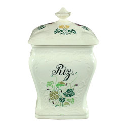 EuroLux Home - Consigned Antique German Art Nouveau Rice Riz Canister - Product Details