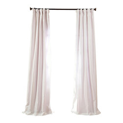 """Exclusive Fabrics & Furnishings, LLC - Eggshell Faux Silk Taffeta Curtain - 56% Nylon & 44% Polyester. 3"""" Pole Pocket with Hook Belt. Lined. Interlined. Imported. Weighted Hem. Dry Clean Only. SOLD PER PANEL."""