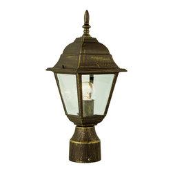 Trans Globe - Trans Globe 4414 WH 1-Light Post Lantern - Trans Globe 4414 WH 1-Light Post Lantern