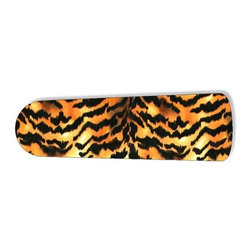 """Tiger Stripe Print 52"""" Ceiling Fan BLADES ONLY - These are beautiful custom blades for your home. This is a set of 5 brand new high quality designer ceiling fan blades. The surface is easy to clean with a damp cloth. These are universal for 52"""" fans. Double the measurement from the center of the fan to the tip of one blade. Several different mediums are used, all are non-toxic. You can be confident that this product will last for years to come. You'll love showing off your new unique blades. These are not licensed products, but are made with licensed materials."""