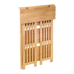 Winsome Wood - Winsome Wood Mission Mission 4-Tier Shelf X-72428 - Nice and sturdy Folding Bookshelf - convenient to re-locate.   Solid wood construction. Mission Style.  4-Tier Shelf.
