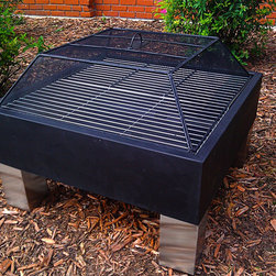 Outdoor Classics - Outdoor Classics Square Hot Spot  Fire Pit with Cooking Grate -