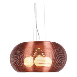 Bromi Design - Bromi Design Lenox 3 Light Modern Maroon Pendant - Stainless steel just got a new lease on light in this dazzling pendant. If yours is a contemporary or modern decor this light is a quiet, elegant touch of restraint. In a more traditional space, this light will steal the show.