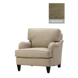 Home Decorators Collection - Custom Markham Chair - Our Custom Markham Chair sits on sturdy hardwood legs and is great for providing extra seating. Available in a wide variety of custom fabrics, it's easy for you to match this upholstered chair with the other furniture and decor in your living room. Assembled to order in the USA and delivered in approximately 4-6 weeks. Includes hardwood legs in espresso finish.