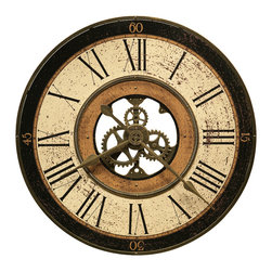 "Howard Miller - Howard Miller 32"" Oversized Antique Wall Clock 