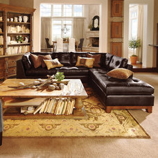 Garner 2 Piece Leather Sectional | Arhaus Furniture