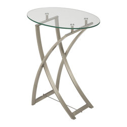Dainolite - Dainolite GCT-510-CGL-SC End Table Clear Tempered Glass/Satin Chrome - Dainolite GCT-510-CGL-SC End Table Clear Tempered Glass/Satin Chrome