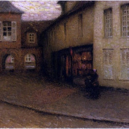 "Henri Le Sidaner The Small Shop - 18"" x 24"" Premium Archival Print - 18"" x 24"" Henri Le Sidaner The Small Shop premium archival print reproduced to meet museum quality standards. Our museum quality archival prints are produced using high-precision print technology for a more accurate reproduction printed on high quality, heavyweight matte presentation paper with fade-resistant, archival inks. Our progressive business model allows us to offer works of art to you at the best wholesale pricing, significantly less than art gallery prices, affordable to all. This line of artwork is produced with extra white border space (if you choose to have it framed, for your framer to work with to frame properly or utilize a larger mat and/or frame).  We present a comprehensive collection of exceptional art reproductions byHenri Le Sidaner."