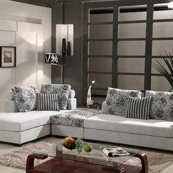 Cortesia Microfiber Sectional Sofa Set - Features: