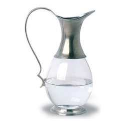 Match Pewter - Glass Pitcher by Match - This impressive pewter bar collection from Match pewter wont go unnoticed at your next gathering. A collection handmade in northern Italy, each piece bears a stamped symbol from the region in which it was made.
