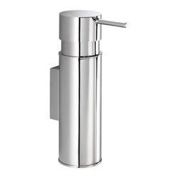 Gedy - Wall Mounted Chrome Soap Dispenser - If someone is always making off with your soap dispenser you can put a stop to that immediately. This sleek, contemporary soap dispenser is wall mounted so it can't walk off into the sunset again.
