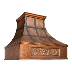 """myCustomMade - Copper Metal Range Hood """"Memphis"""", Coffee, 30"""", Wall Mount - Custom Made design makes this copper metal range hood a great addition to the kitchen. Customize the modern copper hood by choosing natural fired, coffee, honey or antique finishing. """"Memphis"""" style is produced as 30, 36 or 48 inches wide. Its depth is 22"""", height 36"""" and it takes about thirty days to deliver. Once purchased specify the hood 220000013 version as wall mount or kitchen island. Enjoy free delivery."""