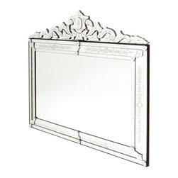 Go Home Ltd - Go Home Ltd Extra Large Horizontal Venetian Mirror X-8949 - Go Home Ltd Extra Large Horizontal Venetian Mirror X-8949