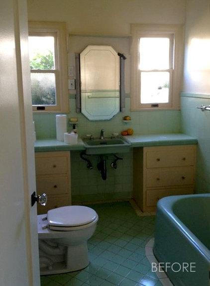 Farmhouse  Charming Vintage Inspired Master Bath Remodel