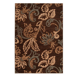 """Surya - Transitional Riley 5'3""""x7'6"""" Rectangle Coffee Bean Area Rug - The Riley area rug Collection offers an affordable assortment of Transitional stylings. Riley features a blend of natural Coffee Bean color. Machine Made of 100% Polypropylene the Riley Collection is an intriguing compliment to any decor."""