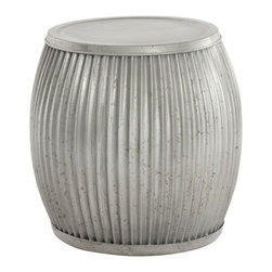 Aidan Gray - Aidan Gray Galvanized Planter/Side Table G85 - This galvanized planter is more than meets the eye. Use it as a planter or flip it over for a great side table.