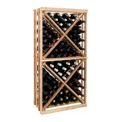 Wine Cellar Innovations - 1-Column Open Diamond Cube Wine Rack (Premium Redwood - Light Stain) - Choose Wood Type and Stain: Premium Redwood - Light Stain. Bottle capacity: 92. One column wine rack. Custom and organized look. Versatile wine racking. Open sides and cross intersection inserts. Can accommodate just about any ceiling height. Optional base platform: 23.19 in. W x 13.38 in. D x 3.81 in. H (5 lbs.). Wine rack: 23.19 in. W x 13.5 in. D x 47.19 in. H (15 lbs.). Vintner collection. Made in USA. Warranty. Assembly Instructions. Rack should be attached to a wall to prevent wobble