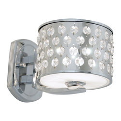 DVI LIghting - Dvi Lighting DVP2401CH-CRY One Light Wall Sconce - DVI Lighting DVP2401CH-CRY One Light Wall Sconce