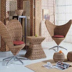Jacinta 3-Pieced Bistro Set - Refreshing styling meets all-natural and hand-woven rattan.