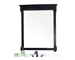 Bellaterra Home - 42 Inch Solid Wood Frame Mirror-Espresso - Solid wood construction frame with high quality mirror to withstand bathroom humidity. Dimension: 42 W x 2.4 D x 41.5 H