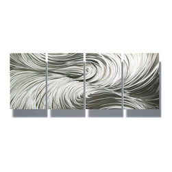 Miles Shay - Metal Wall Art Decor Abstract Contemporary Modern Sculpture Hanging Zen- Echo - This Abstract Metal Wall Art & Sculpture captures the interplay of the highlights and shadows and creates a new three dimensional sense of movement as your view it from different angles.