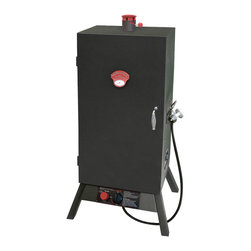 "Landmann - 34"" Gas One Door Wide Vertical Smoker - -Heavy duty steel construction"