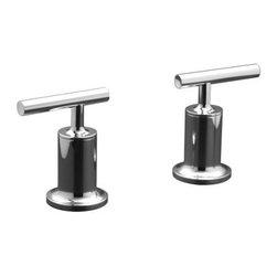 KOHLER - KOHLER K-T14429-4-CP Purist Bath-, Deck, Wall-Mount High-Flow Bath Valve Trim - KOHLER K-T14429-4-CP Purist Bath-, Deck, Wall-Mount High-Flow Bath Valve Trim with Lever Handles in Polished Chrome