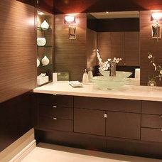 Contemporary Bathroom Countertops by Seifer Kitchen Design Center