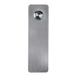 Waterwood - Stainless Steel Ultra Modern Rectangle Doorbell - Adhesive Mount - Waterwood's Stainless Steel Ultra Modern Rectangle doorbell is a sleek and classic shape. Securing to your home with
