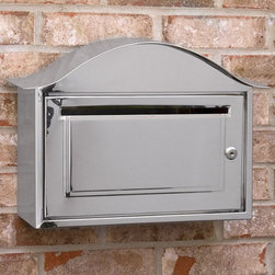 Arched Locking Wall-Mount Stainless Steel Mailbox - The stainless steel material and locking mechanism make this a very functional mailbox, while the arched design adds a touch of style.