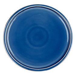 Waechtersbach - Pure Nature Blue Set of 4 Dinner Plates/Lids - Timeless ceramic plates never go out of style. The natural appeal of this set of four makes it perfect for every day use. You'll enjoy the beautiful cracked glaze that gives this set its signature look.