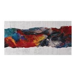 Swimming Pool II Abstract Tebo Marzari Print On Canvas - *Dimensions: 24Hx1Wx48L