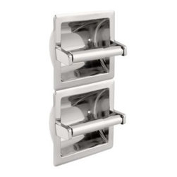 Liberty Hardware - Liberty Hardware 979 F.B. GUEST ROOM ACCESSORIES 12.64 Inch - Ideal for commercial buildings or office bathrooms. This recessed toilet paper holder is made of durable steel material and is finished in polished chrome to coordinate with other bathroom fixtures. The double holder allows for less maintenance and is ideal for heavy-traffic bathrooms. Width - 12.64 Inch, Height - 6.3 Inch, Projection - 3.62 Inch, Finish - Bright Stainless Steel, Weight - 1.31 Lbs.