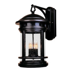 "Designers Fountain - Designers Fountain 2391-ORB 3 Light 11"" Cast Aluminum Wall Lantern from the Sedo - Features:"